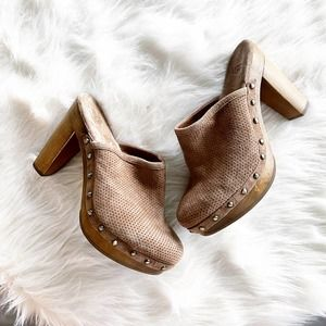 UGG 15 Minute Perforated Chestnut Wooden Mule